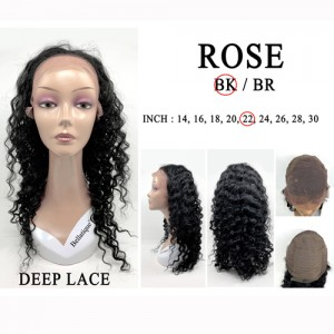 Bellatique 100% Virgin Brazilian Remy Human Hair  Wig ROSE