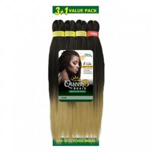"""Urban Beauty Queen B Braid 3+1 Value Pack 4X Multi 50"""""""