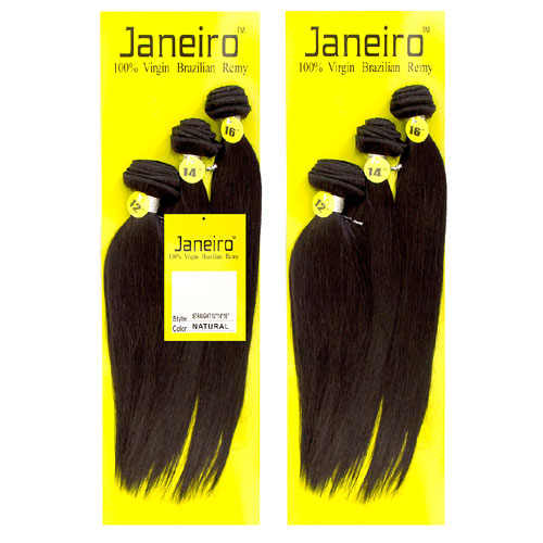 JANEIRO 100% VIRGIN BRAZILIAN REMY STRAIGHT BUNDLE