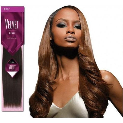 """Outre Velvet Remi Yaki Human Hair Weaving 10"""" - 20"""""""