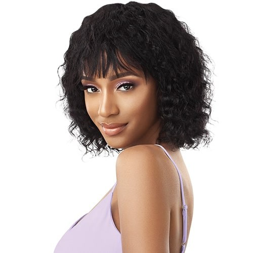 Outre Wet and Wavy Human Hair Wig JERRY BOB