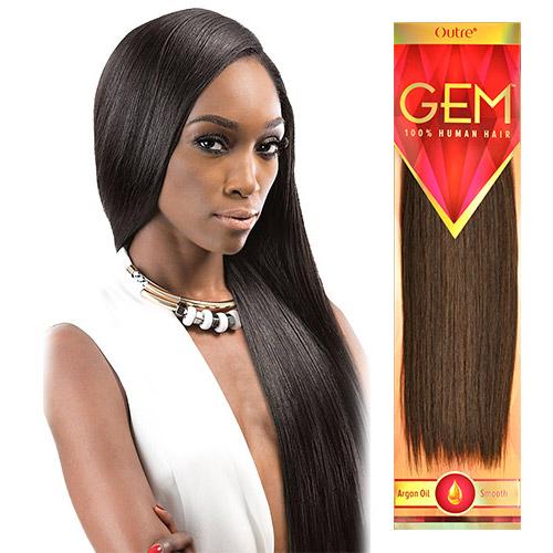 "Outre 100% Human Hair Weave Gem Yaki 8""~18"""