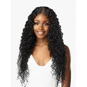 "Sensationnel Human Hair Blend Butta HD Lace Front Wig BOHEMIAN 28"""