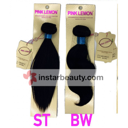 13A PINK LEMON 100% Unprocessed Virgin Human Hair STRAGHT & BODY WAVE